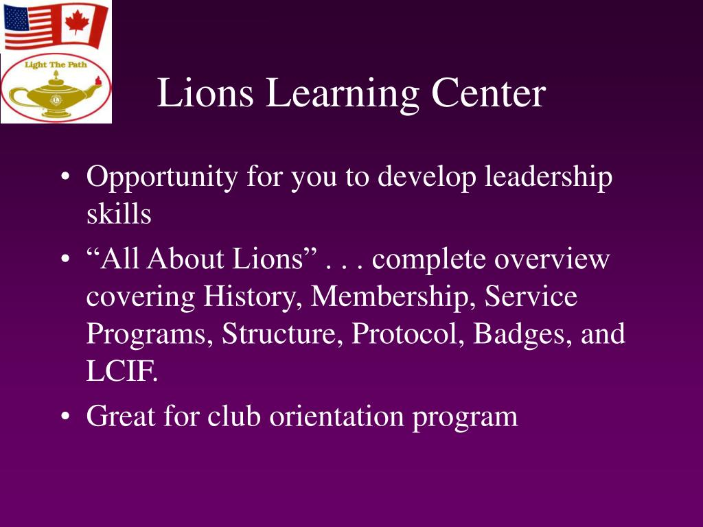 Lions Learning Center