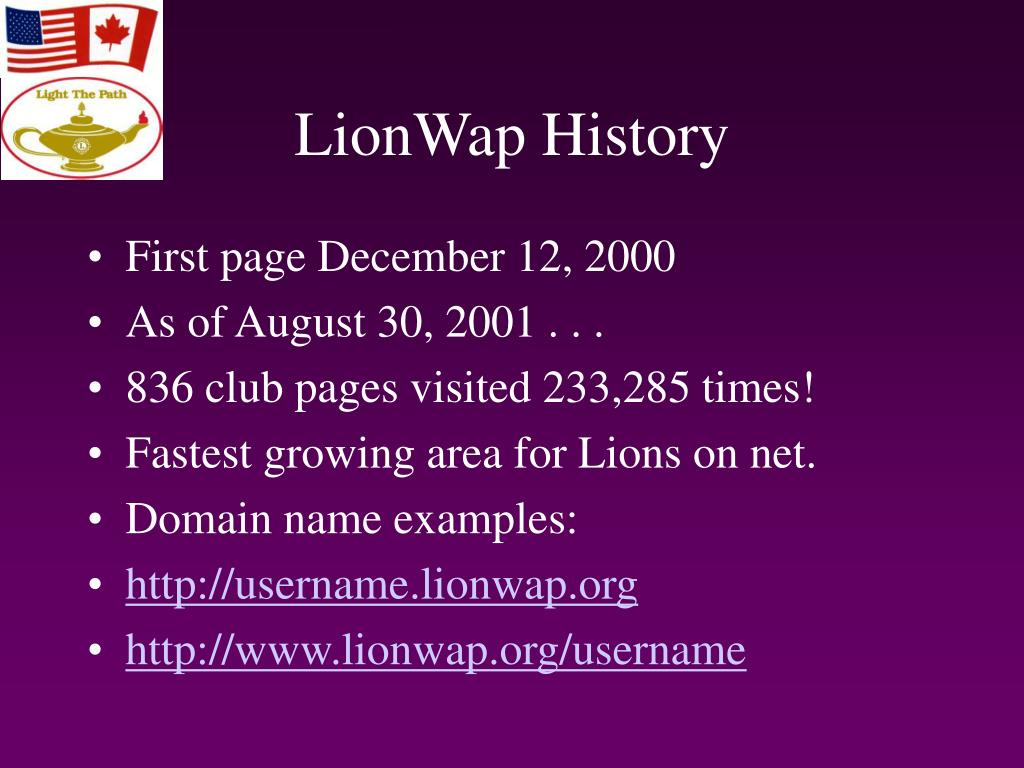 LionWap History