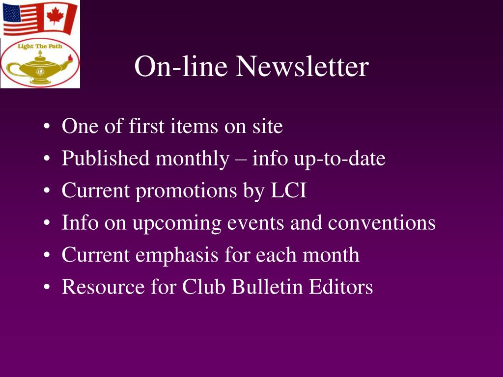 On-line Newsletter