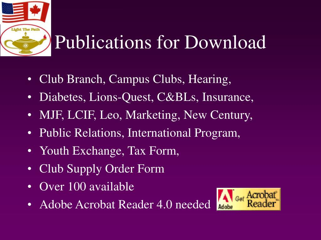 Publications for Download