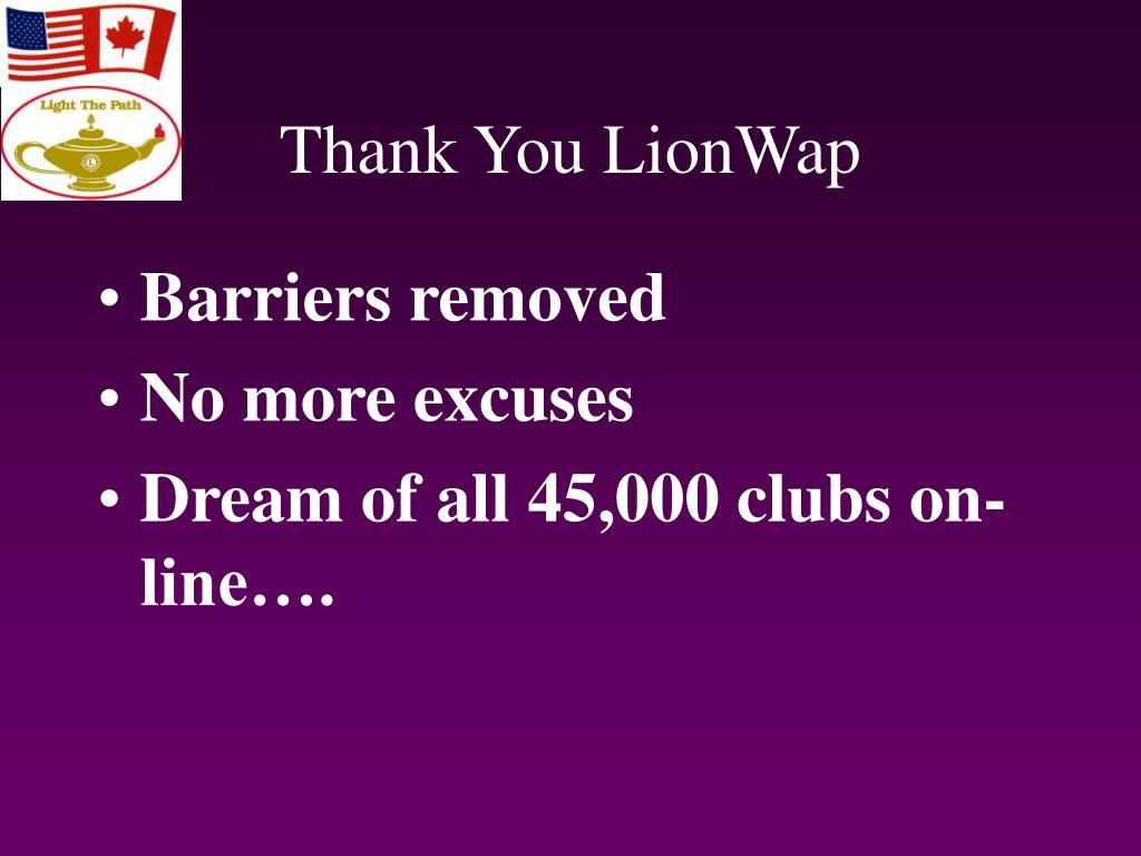 Thank You LionWap