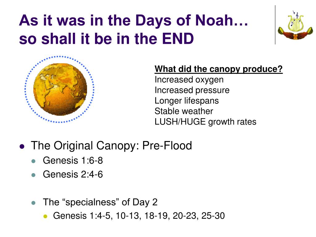 As it was in the Days of Noah…