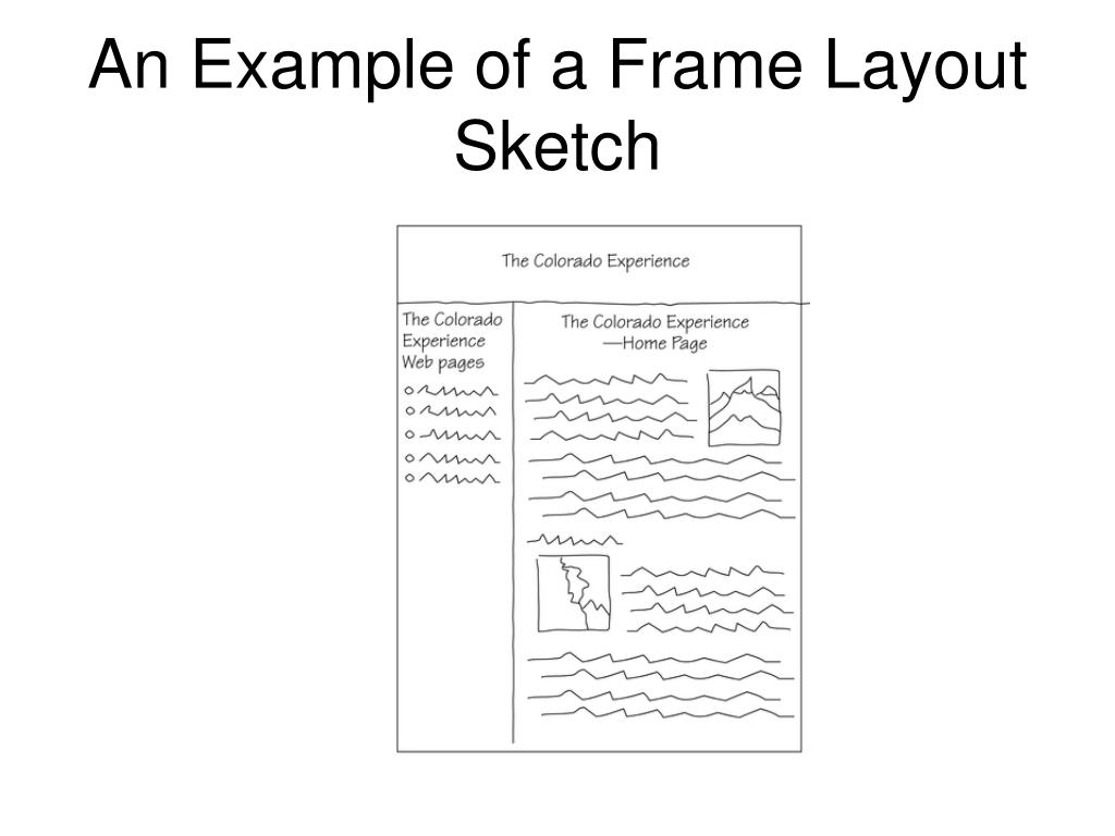 An Example of a Frame Layout Sketch