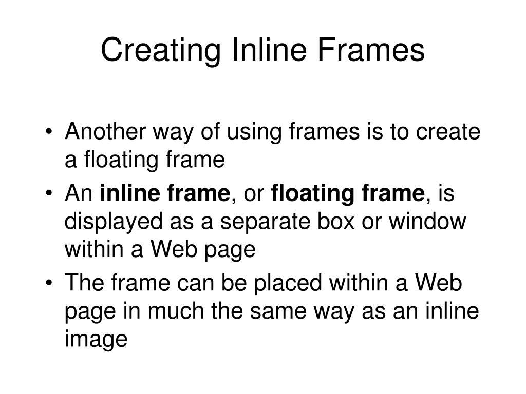 Creating Inline Frames