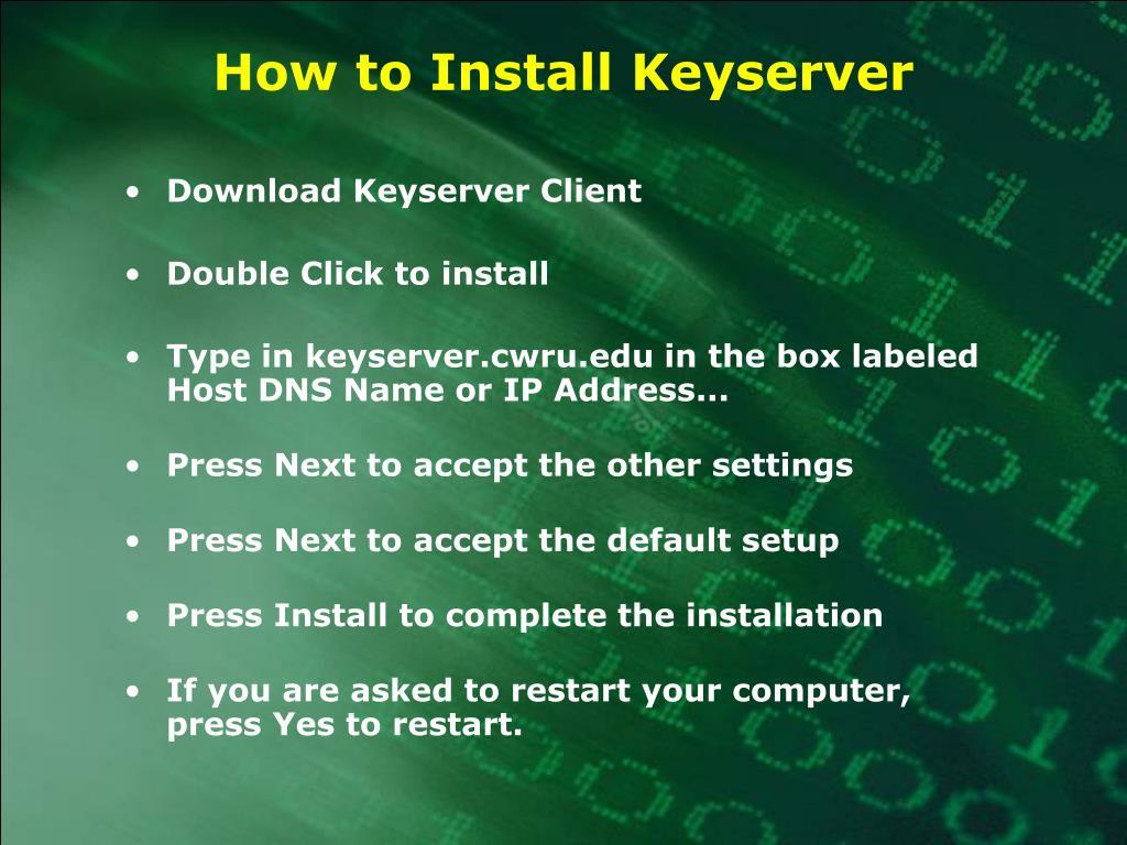 How to Install Keyserver