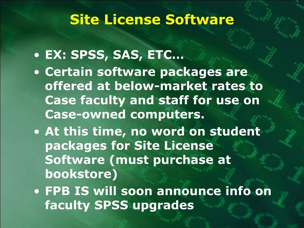 Site License Software