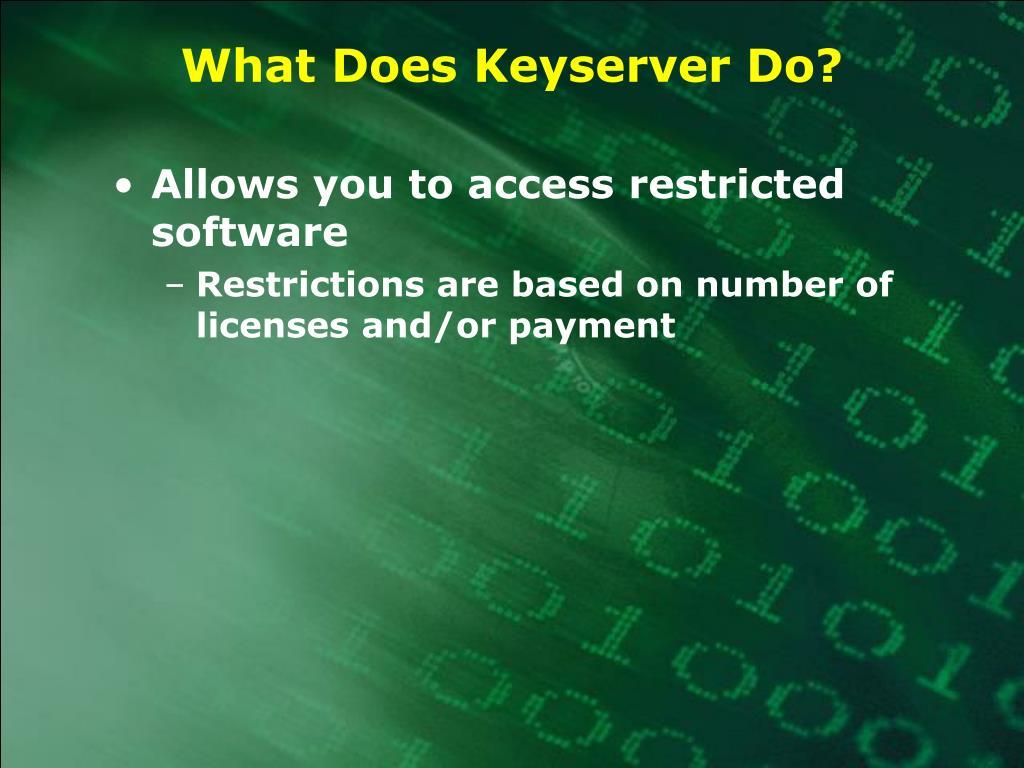 What Does Keyserver Do?