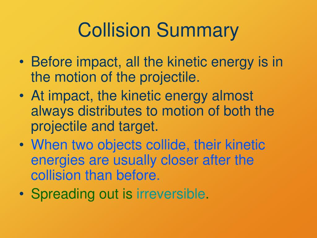 Collision Summary
