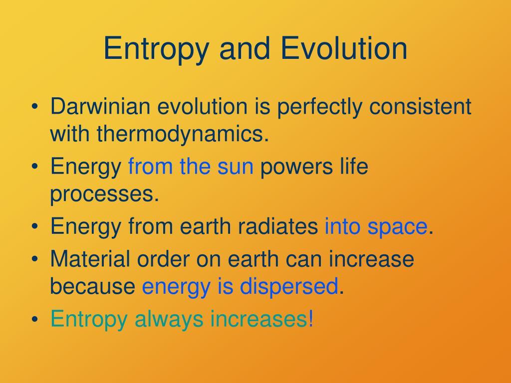 Entropy and Evolution