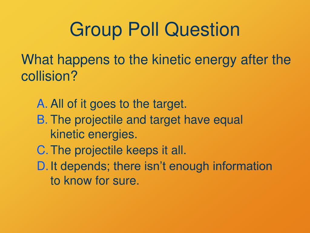 Group Poll Question