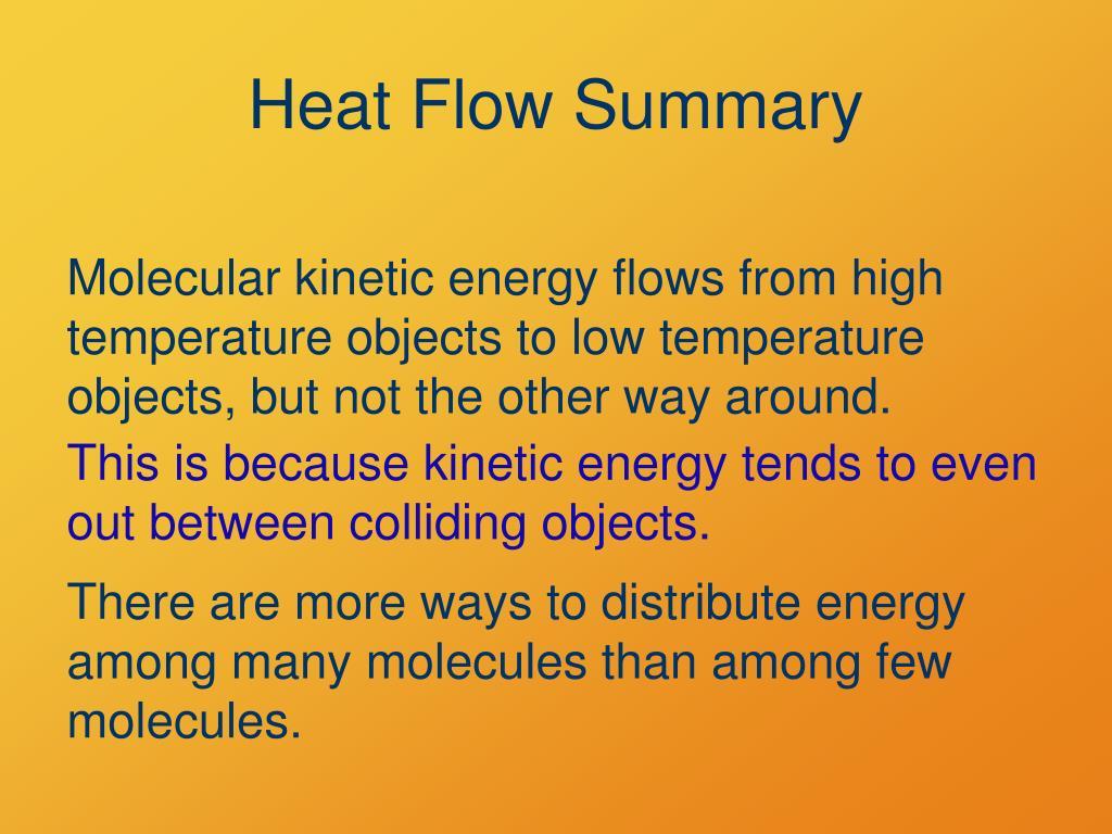 Heat Flow Summary