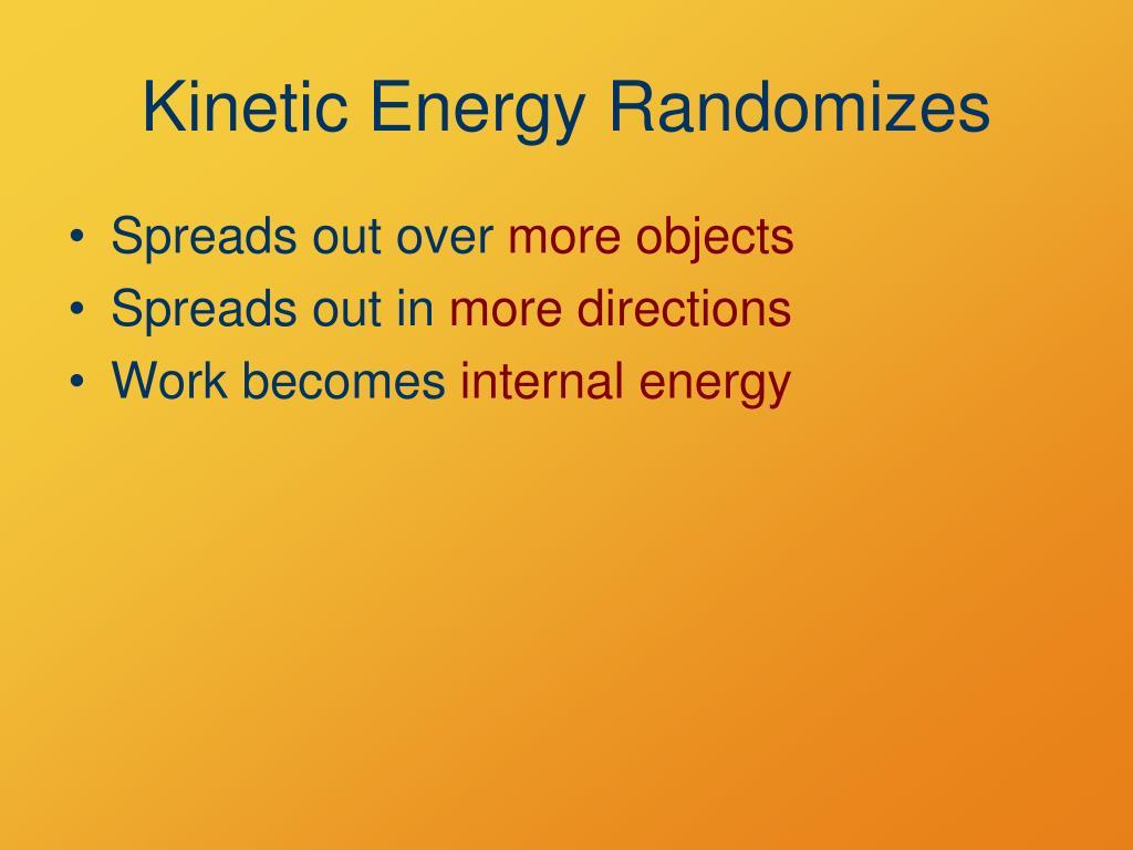 Kinetic Energy Randomizes