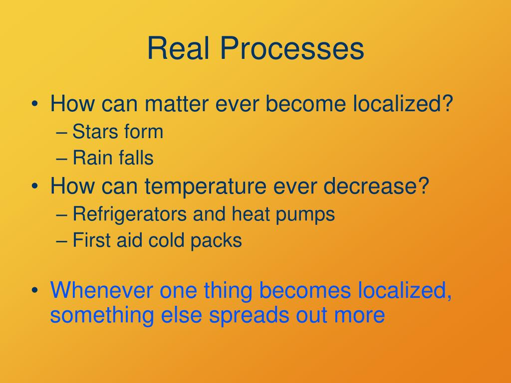 Real Processes