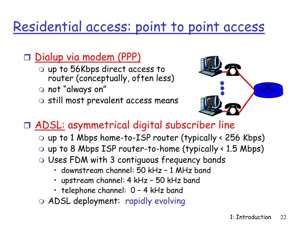 Dialup via modem (PPP)