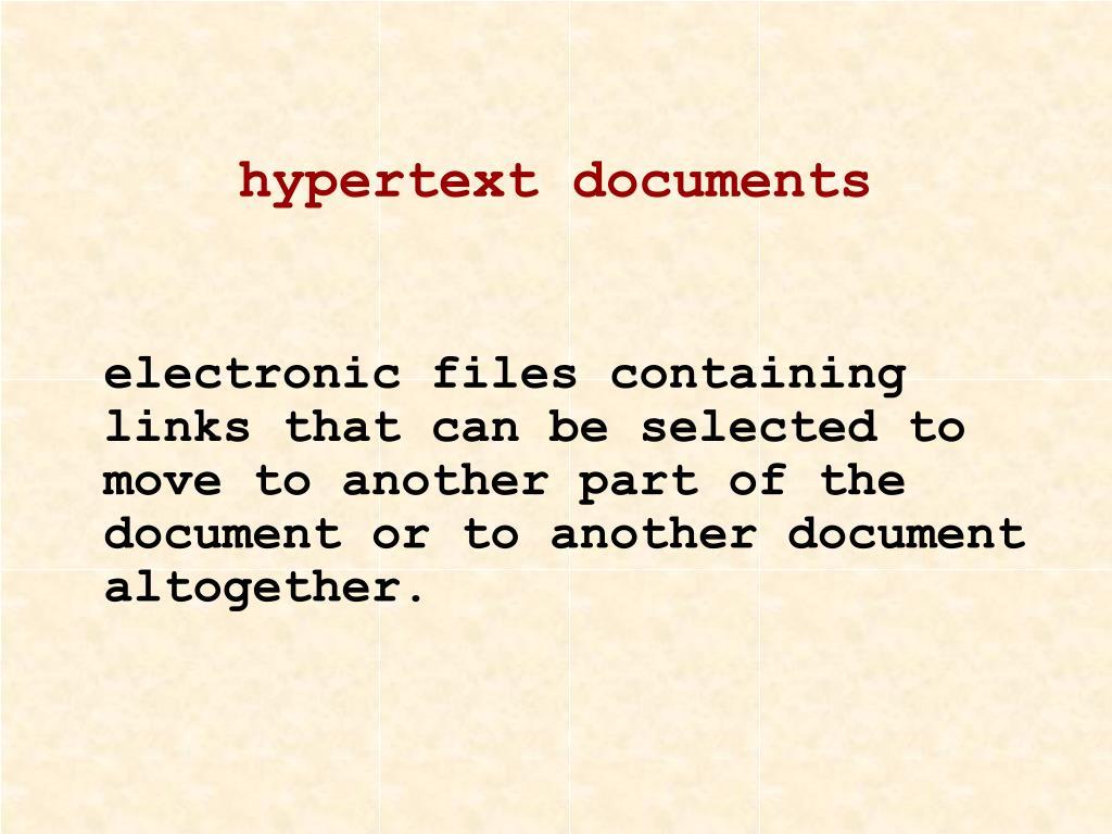 hypertext documents