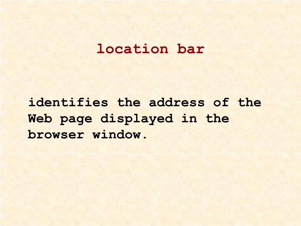 location bar
