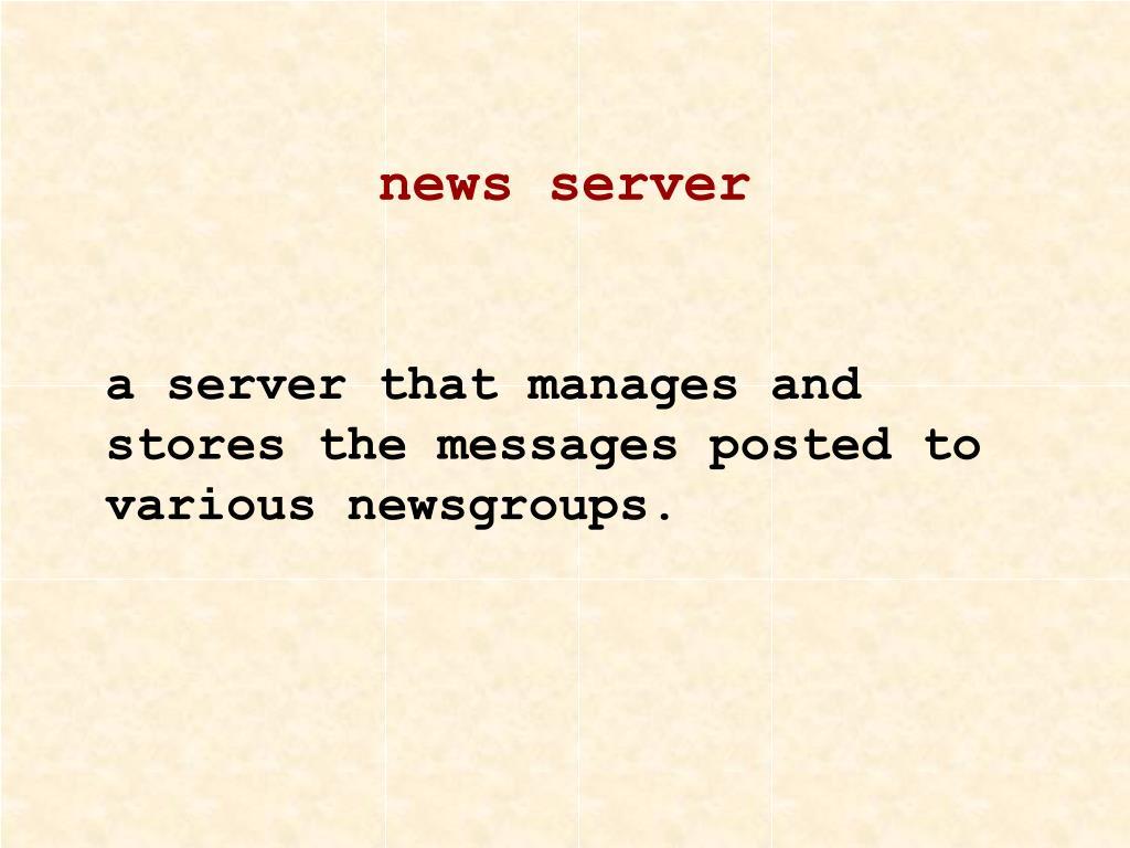 news server