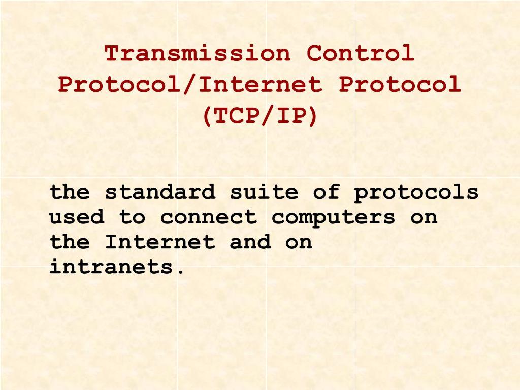 Transmission Control Protocol/Internet Protocol (TCP/IP)