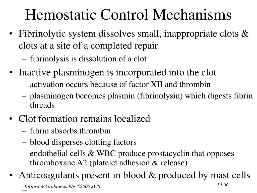 Hemostatic Control Mechanisms