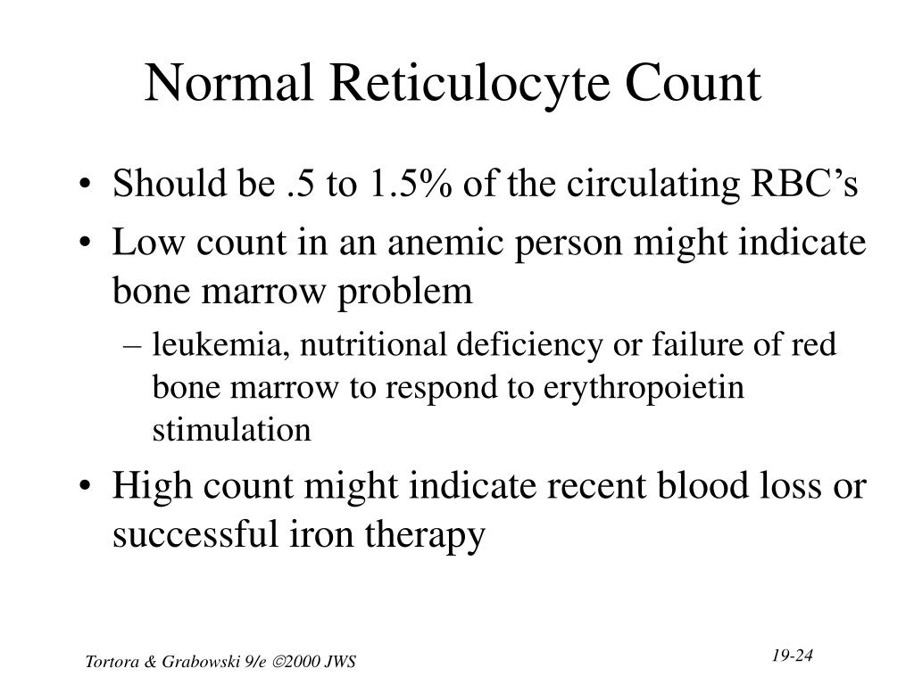 Normal Reticulocyte Count