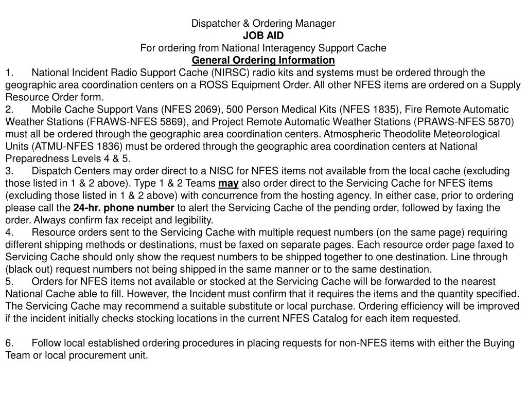 Dispatcher & Ordering Manager