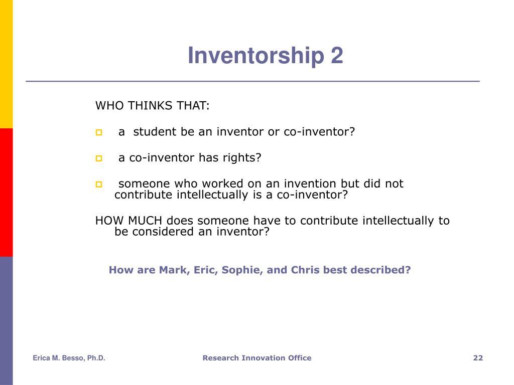Inventorship 2