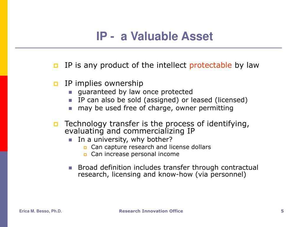 IP -  a Valuable Asset