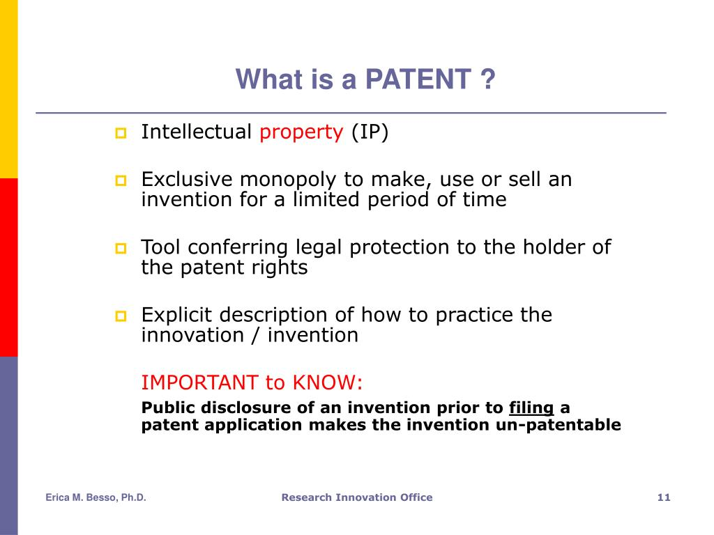 What is a PATENT ?