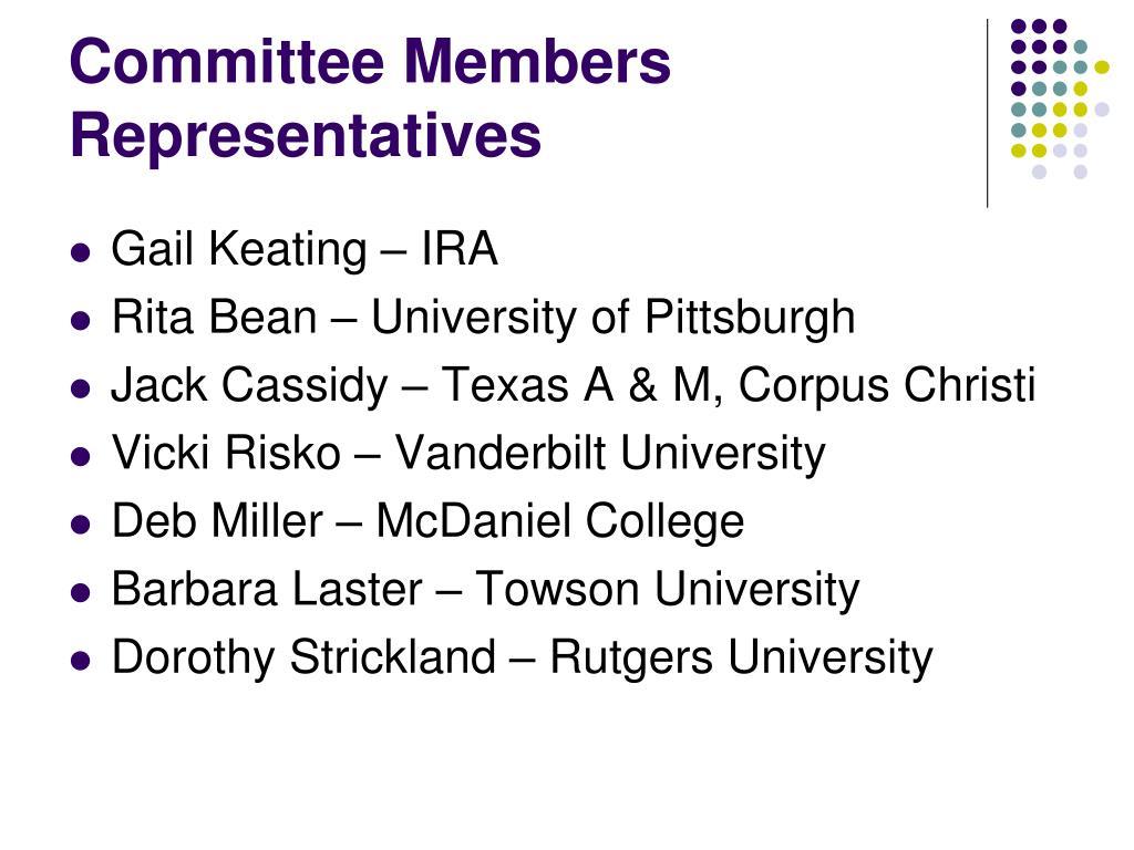 Committee Members Representatives