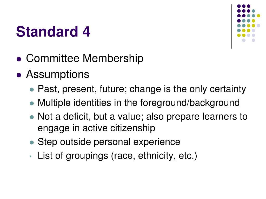 Standard 4