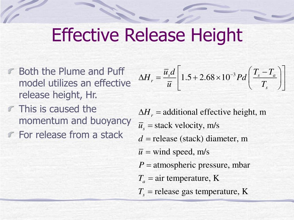 Effective Release Height