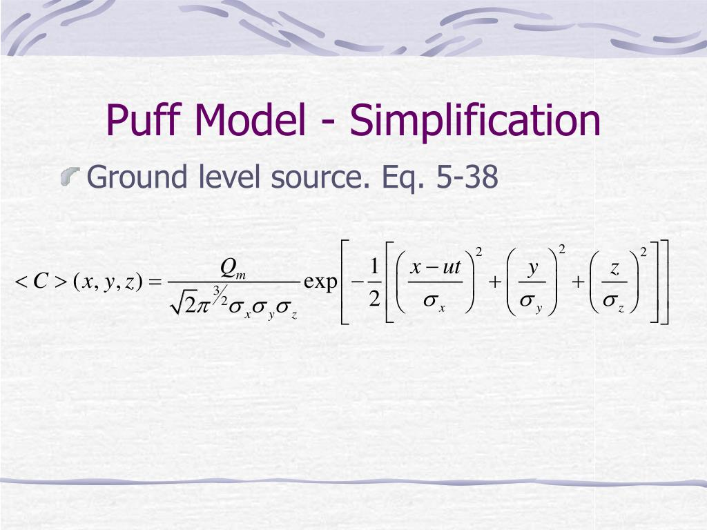 Puff Model - Simplification