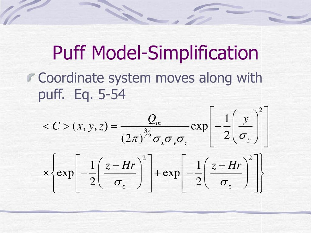 Puff Model-Simplification
