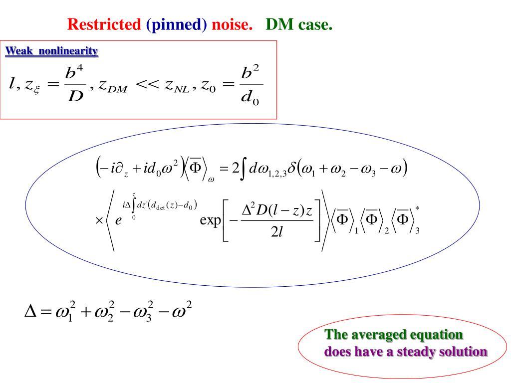 The averaged equation