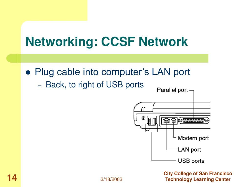 Networking: CCSF Network
