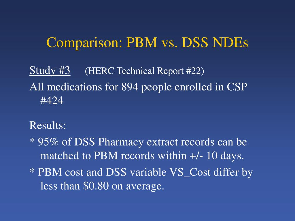 Comparison: PBM vs. DSS NDEs