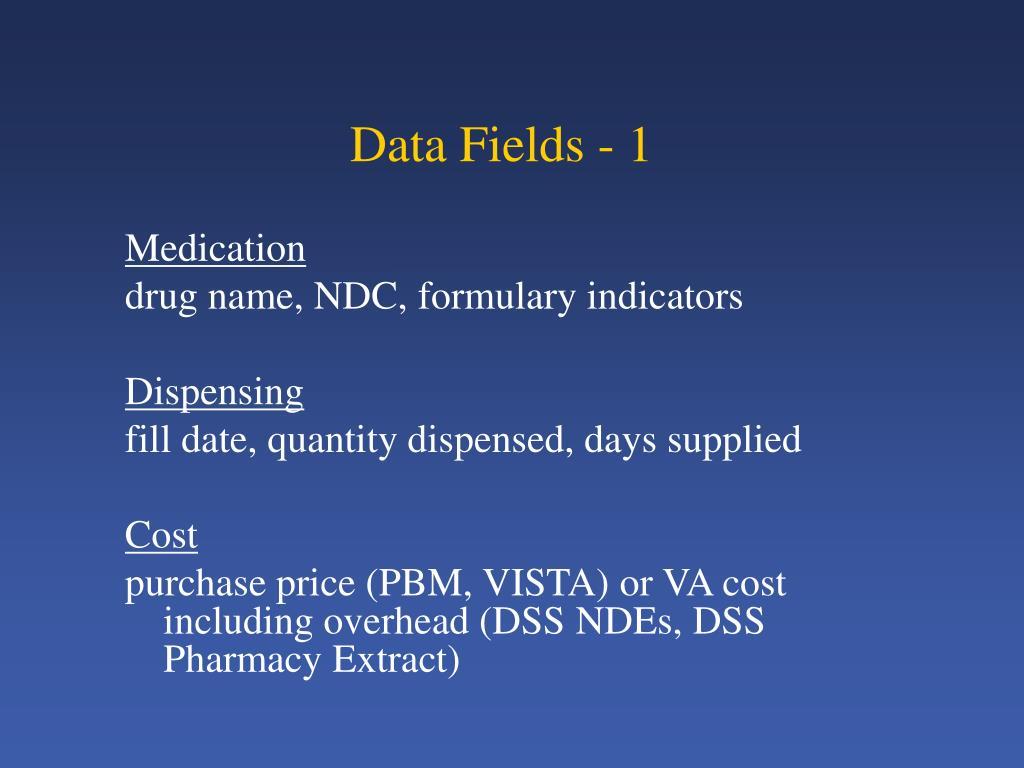 Data Fields - 1