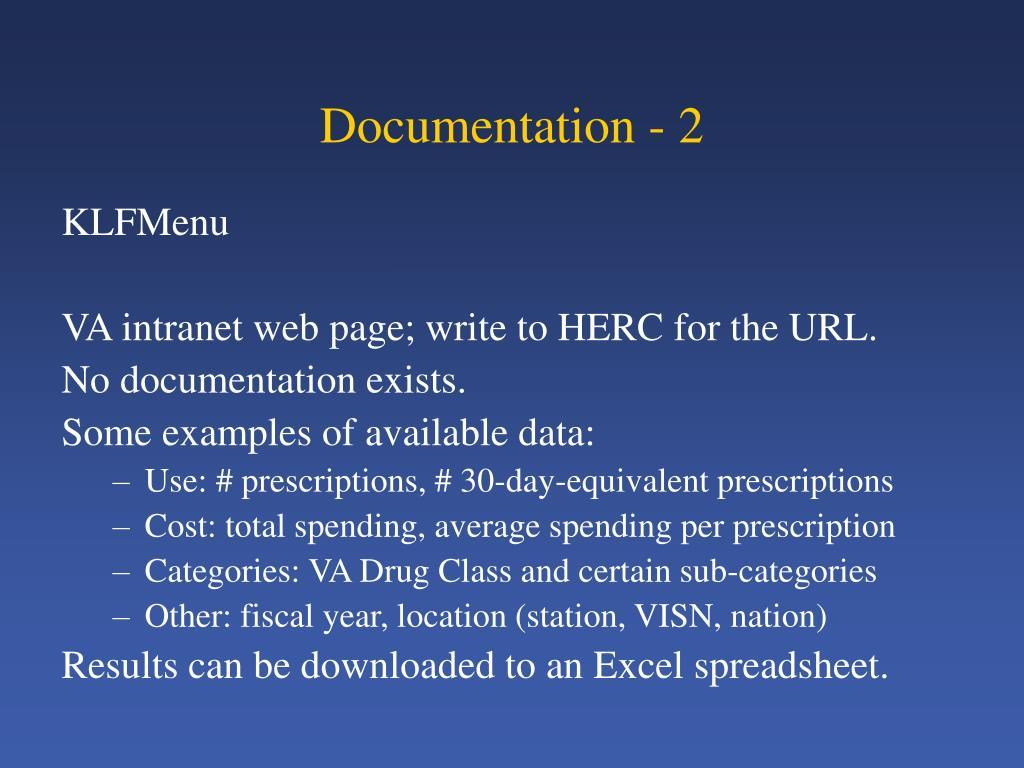 Documentation - 2