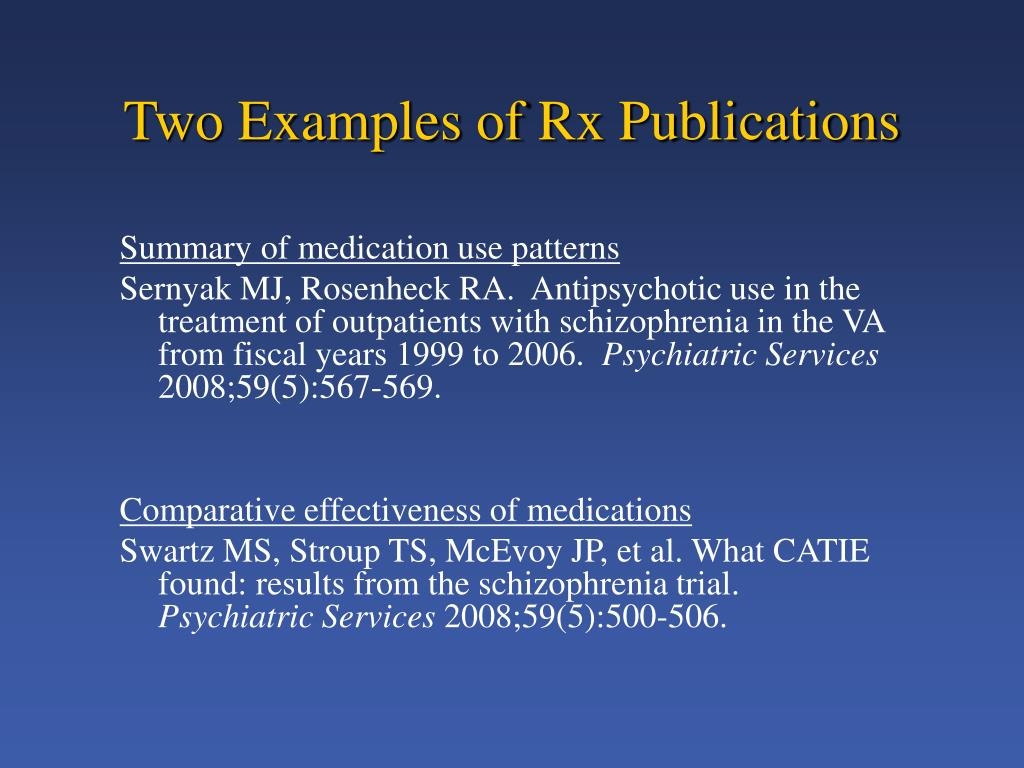 Two Examples of Rx Publications