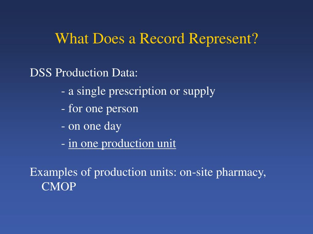 What Does a Record Represent?
