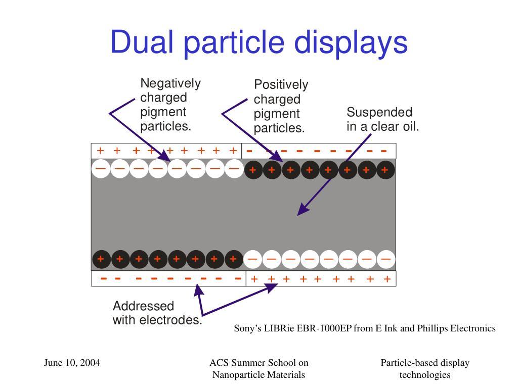 Dual particle displays