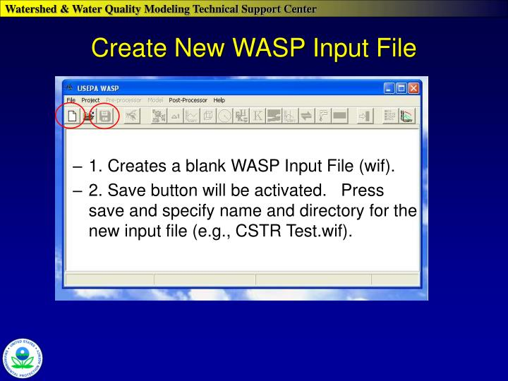 Create new wasp input file