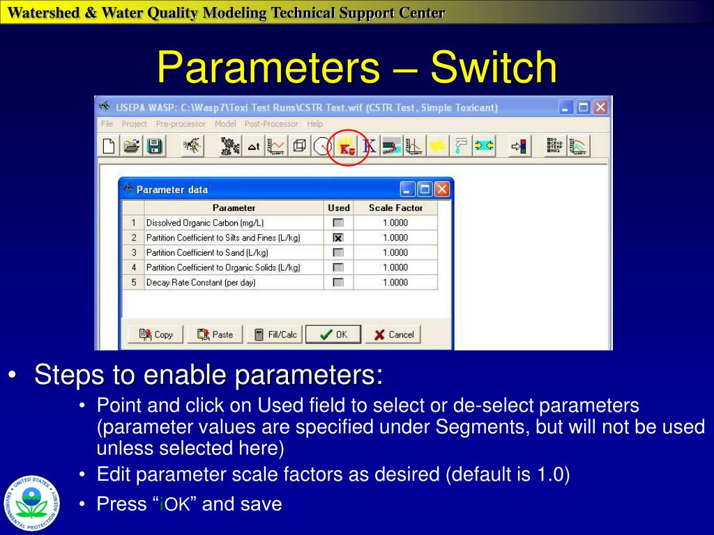 Parameters – Switch