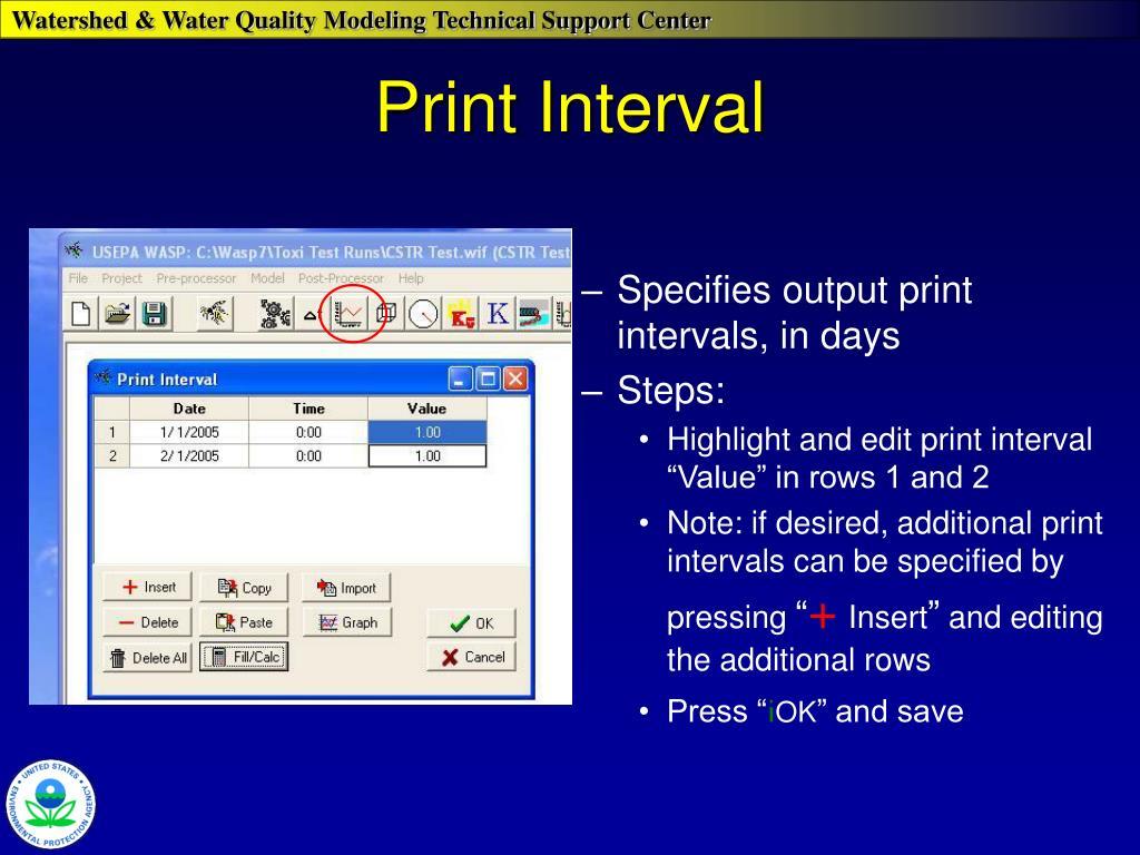 Print Interval