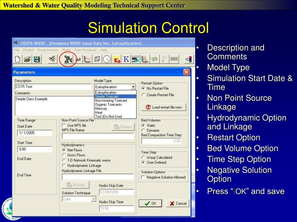 Simulation Control