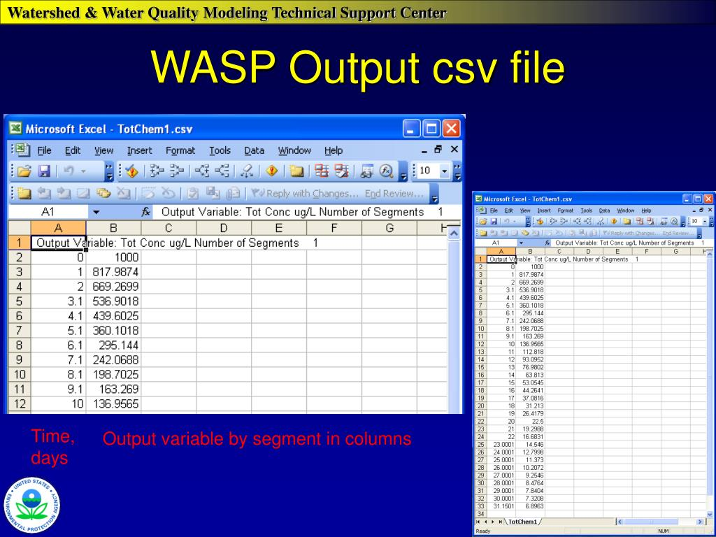 WASP Output csv file