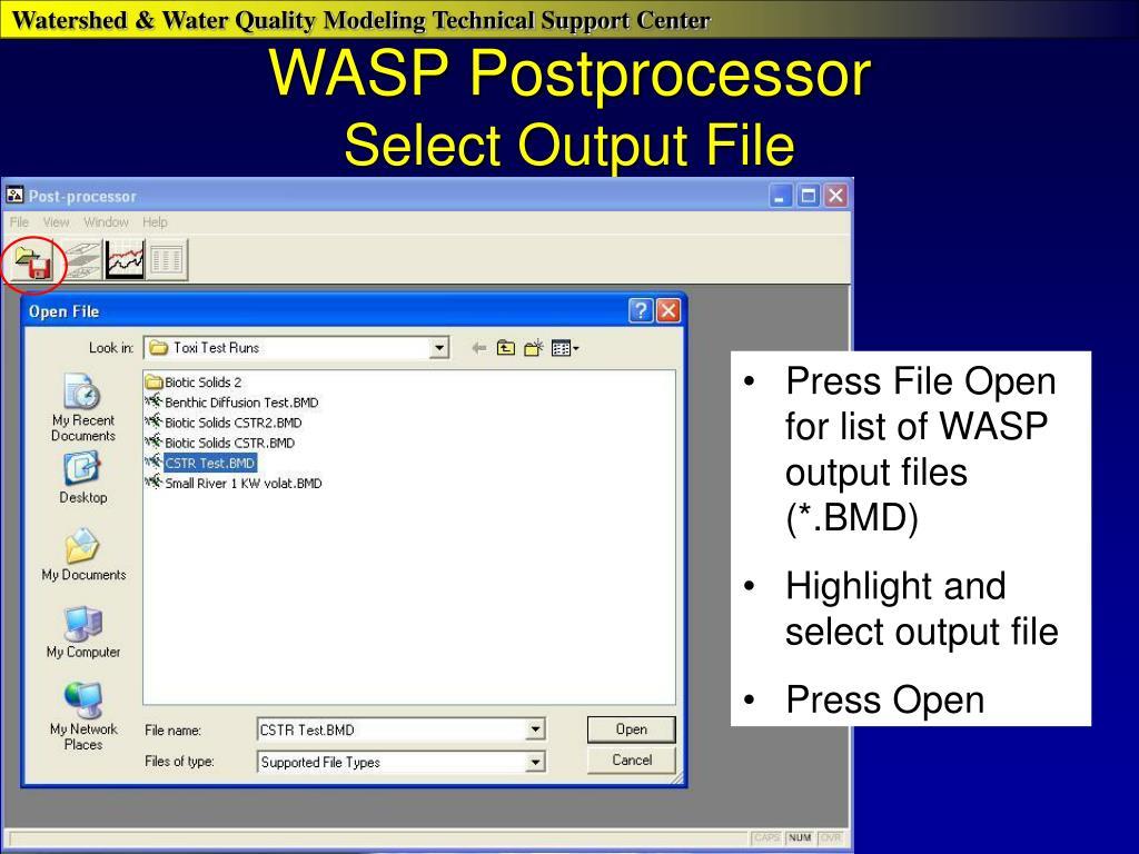 WASP Postprocessor