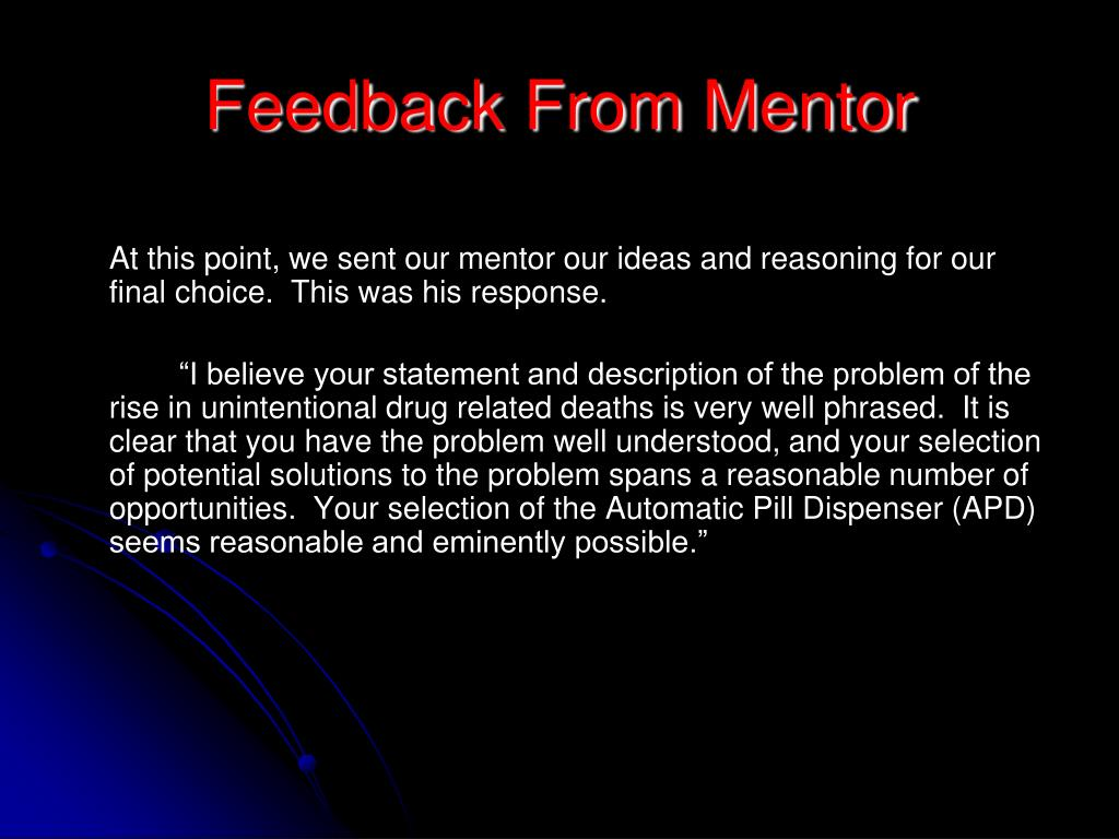 Feedback From Mentor