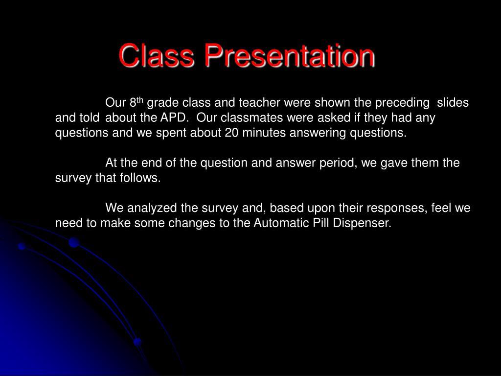 Class Presentation