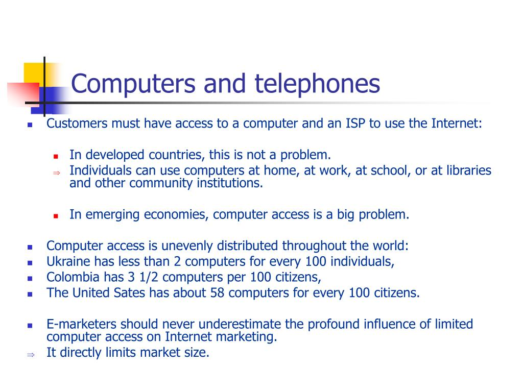 Computers and telephones